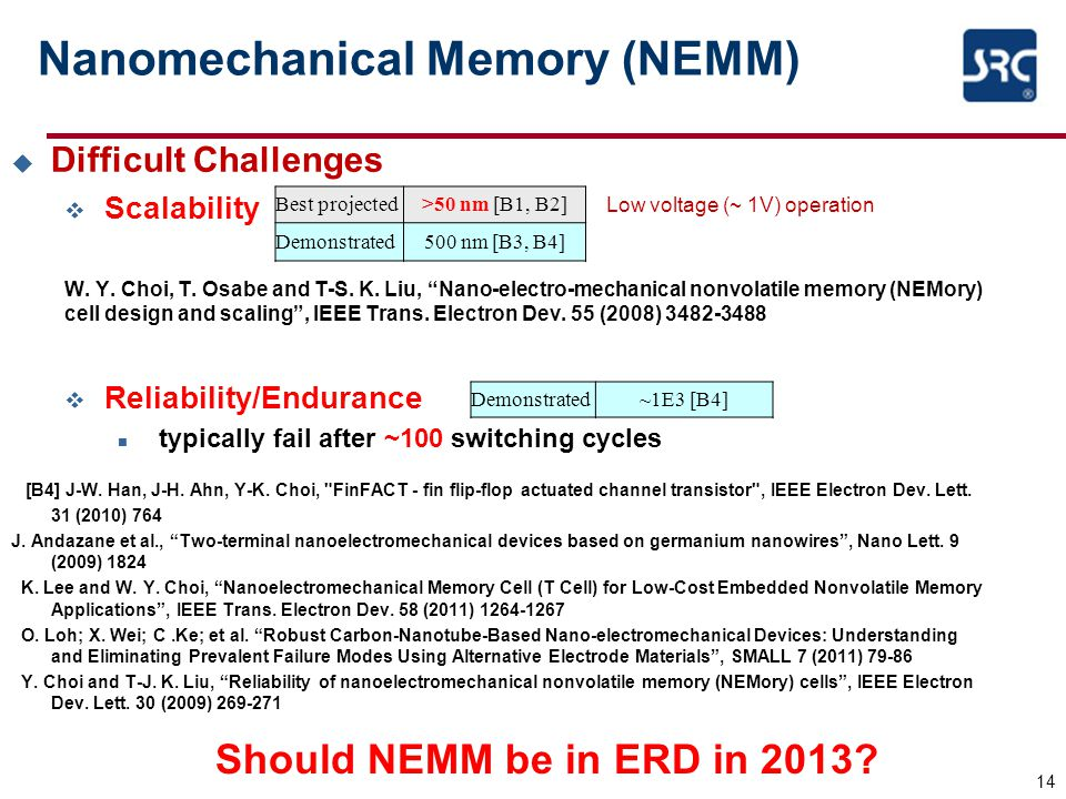 Nanomechanical Memory (NEMM)