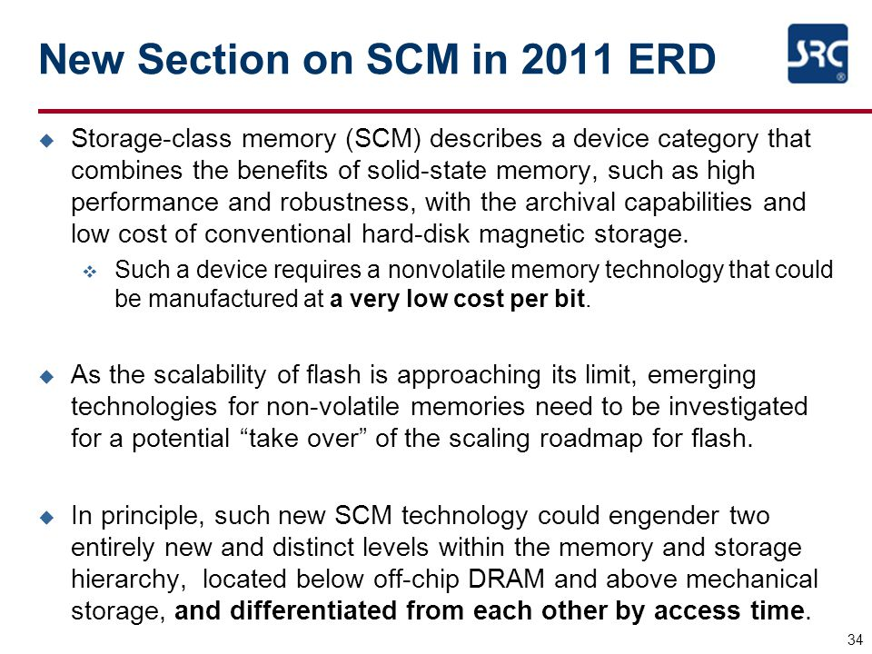 New Section on SCM in 2011 ERD