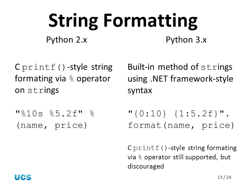 String Formatting Python 2.x