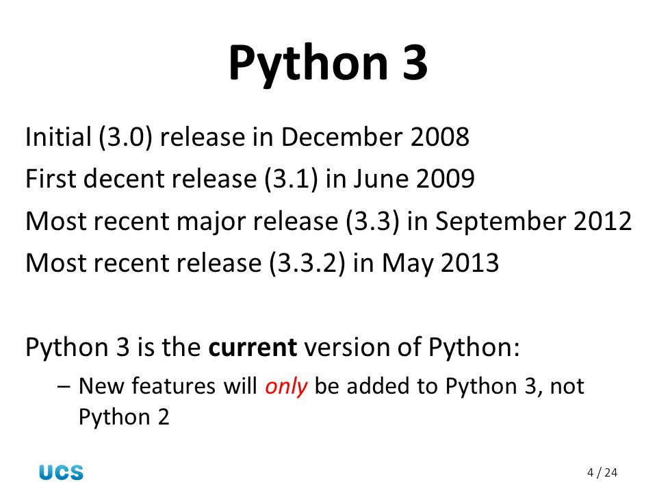 Python 3 Initial (3.0) release in December 2008