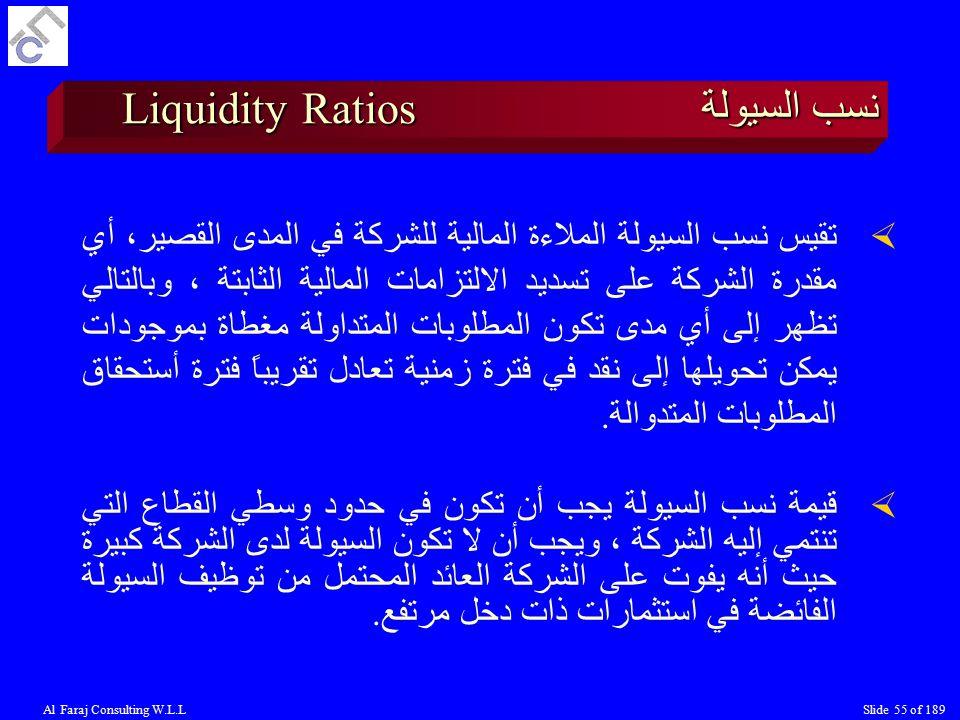 نسب السيولة Liquidity Ratios