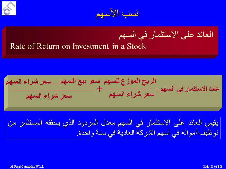 نسب الأسهم العائد على الاستثمار في السهم _ +