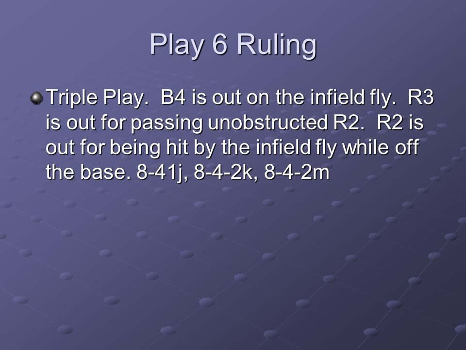Play 6 Ruling