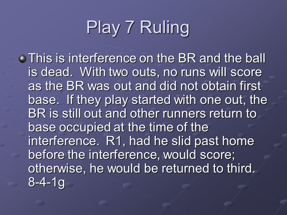 Play 7 Ruling