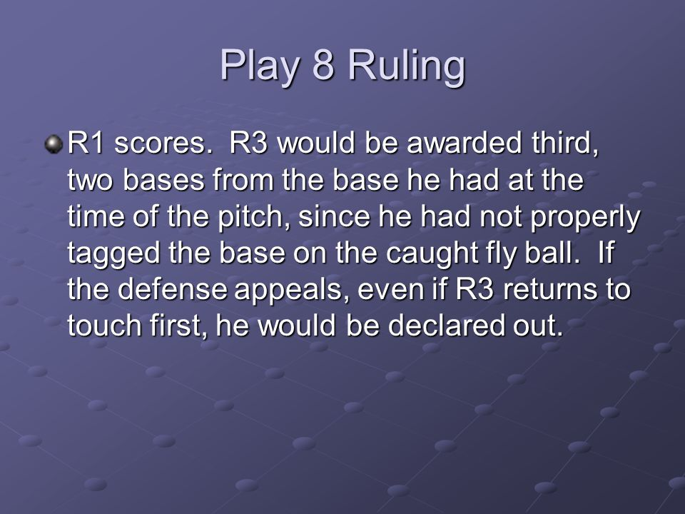 Play 8 Ruling