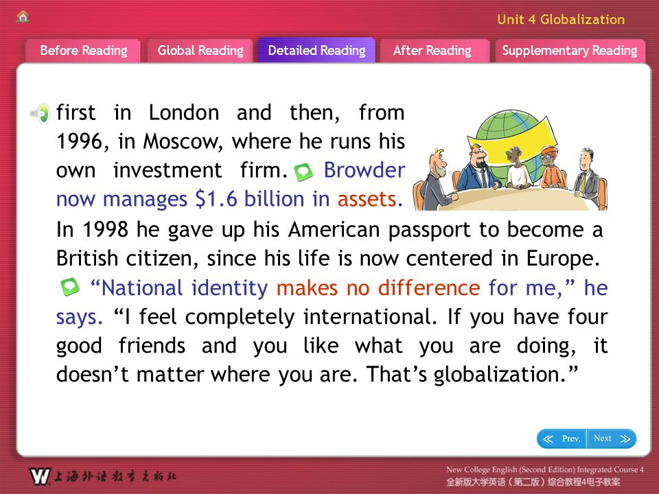 D R _ Text 2 first in London and then, from 1996, in Moscow, where he runs his own investment firm. Browder now manages $1.6 billion in assets.