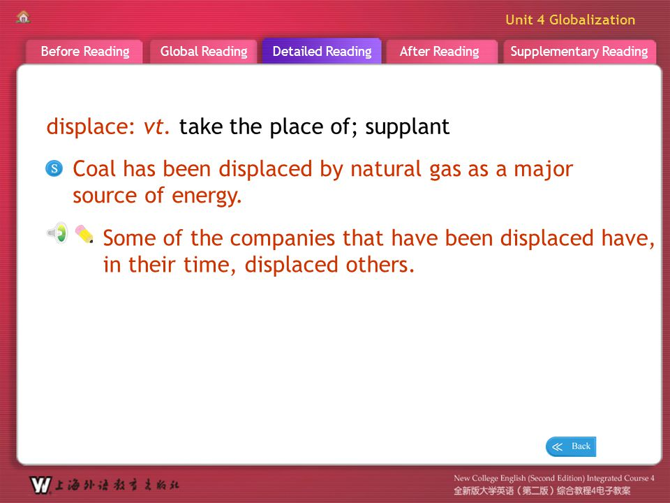 D R _ word _displace displace: vt. take the place of; supplant