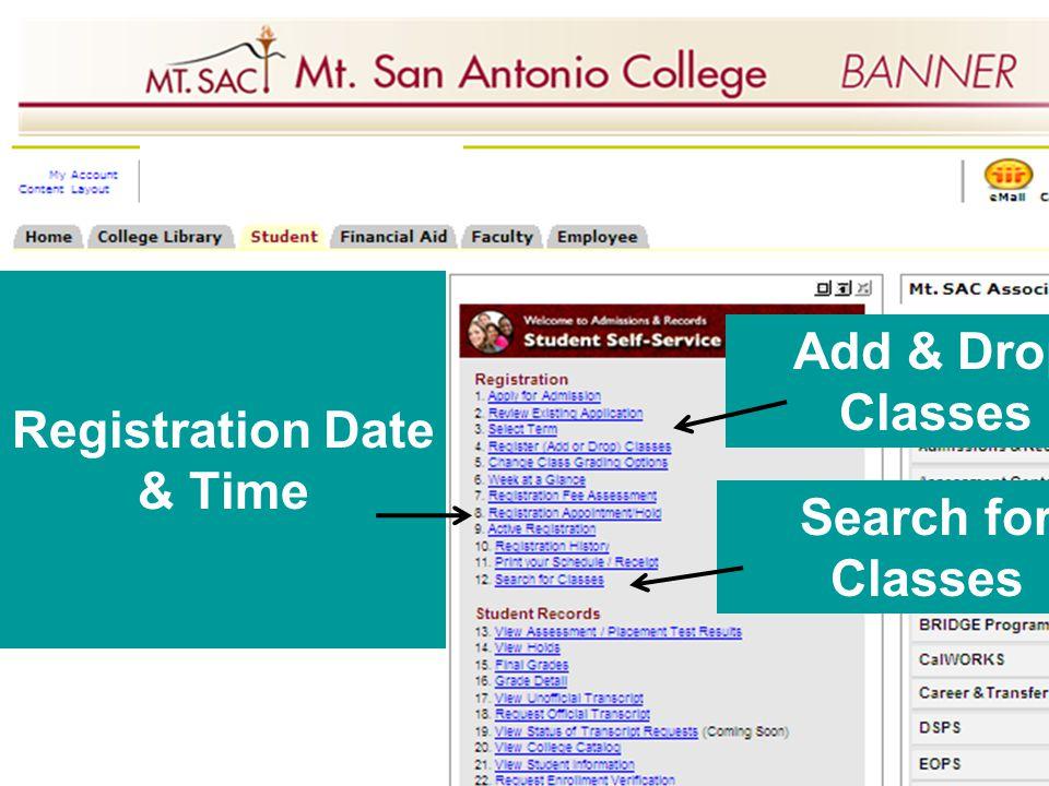 Registration Date & Time