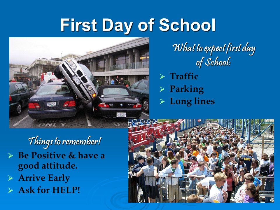What to expect first day