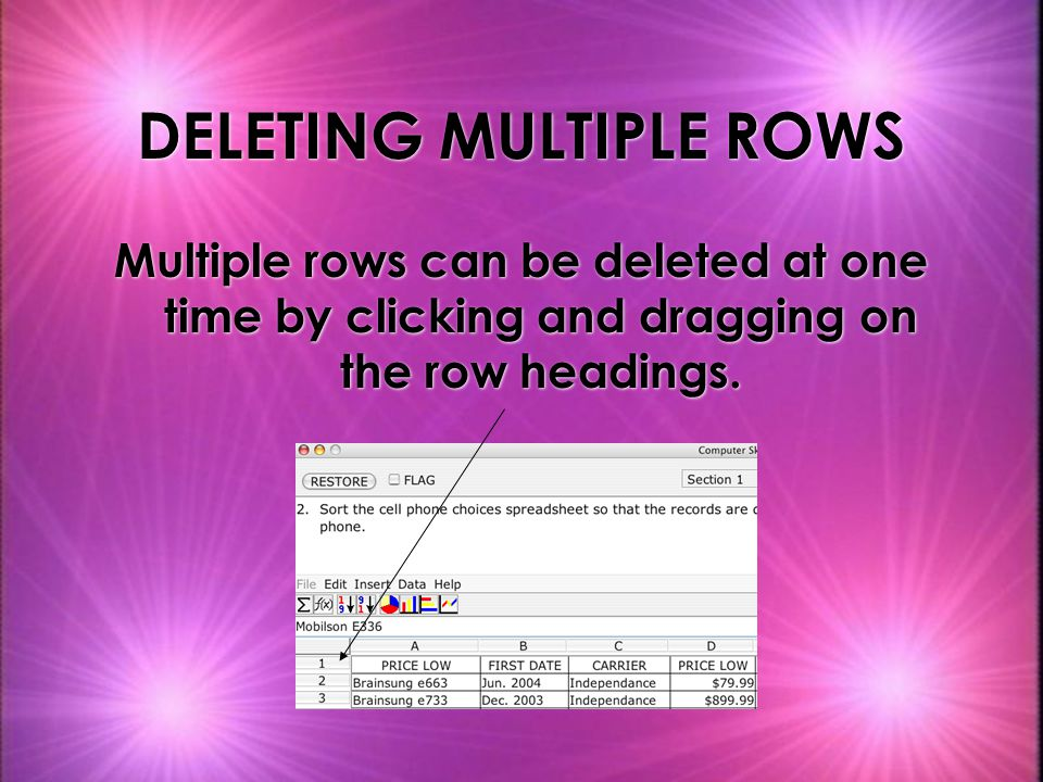 DELETING MULTIPLE ROWS