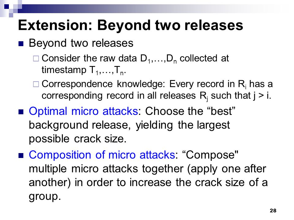 Extension: Beyond two releases