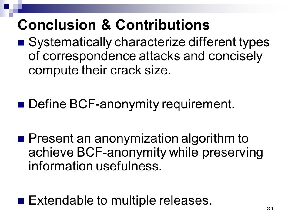 Conclusion & Contributions