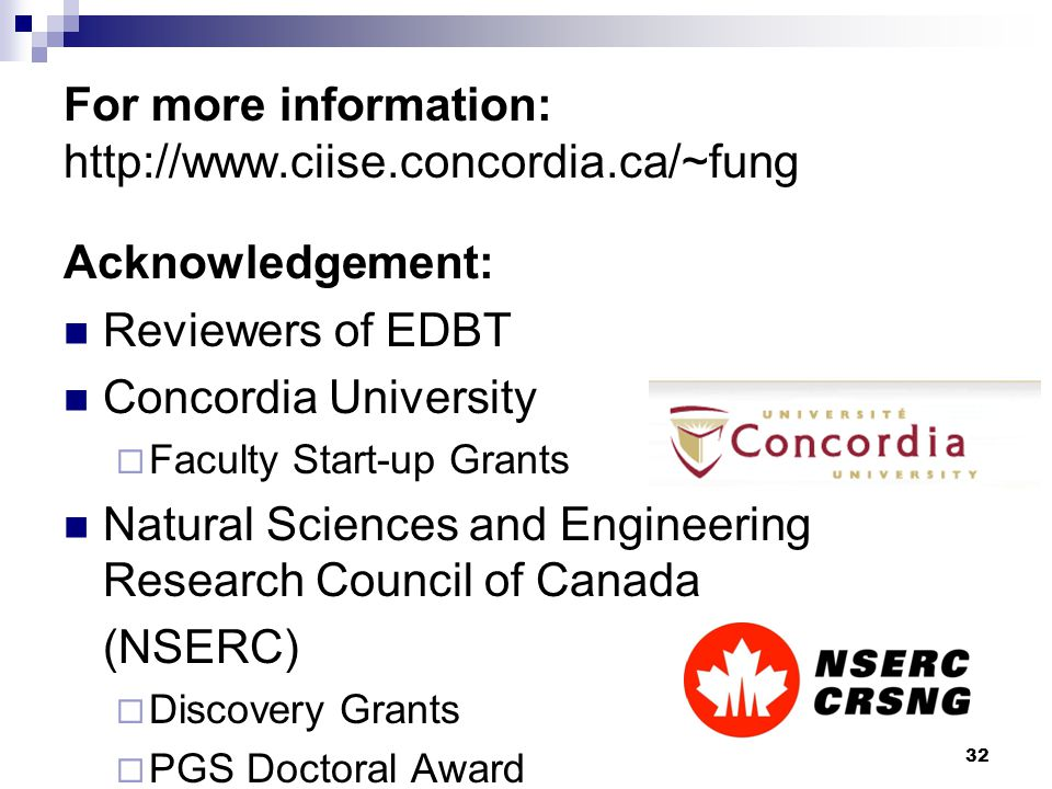 For more information: http://www.ciise.concordia.ca/~fung