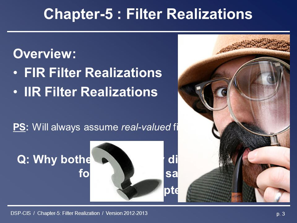 Chapter-5 : Filter Realizations