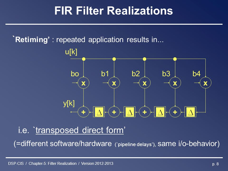 FIR Filter Realizations