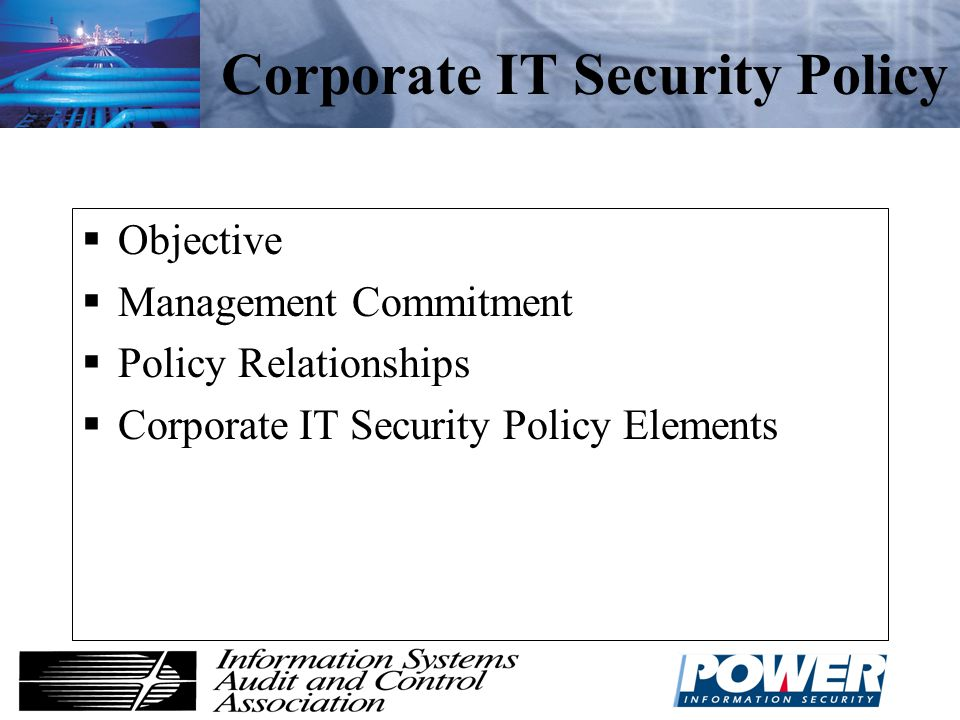 Corporate IT Security Policy