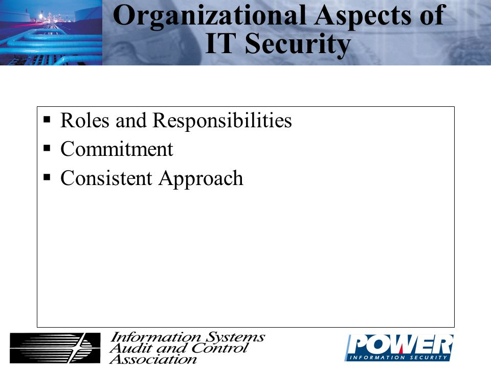 Organizational Aspects of IT Security