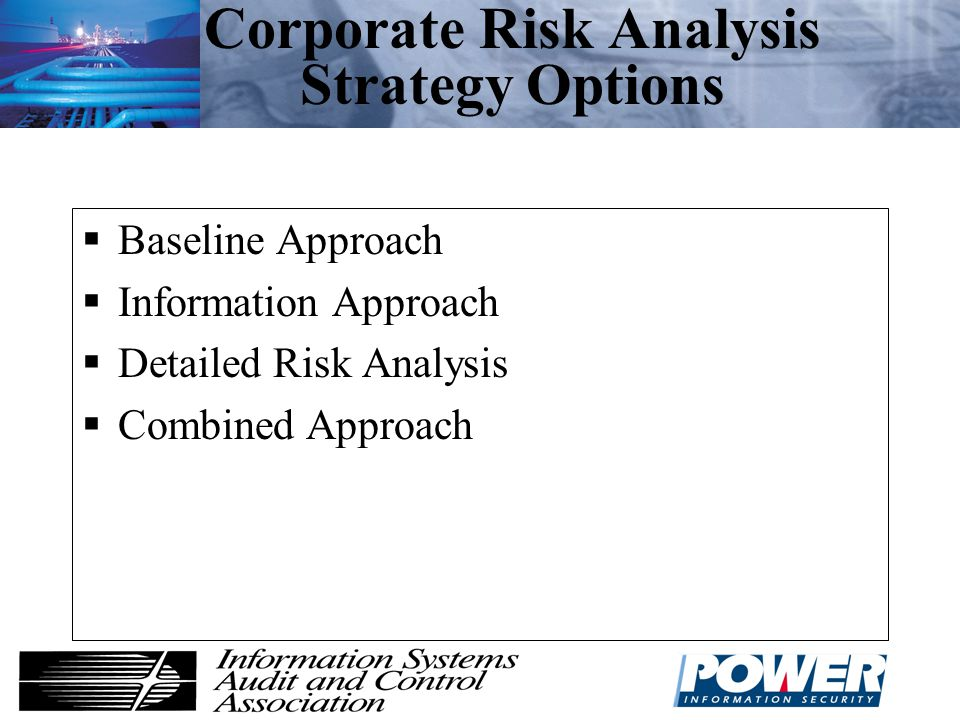 Corporate Risk Analysis Strategy Options