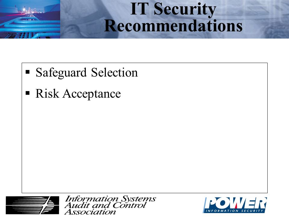 IT Security Recommendations