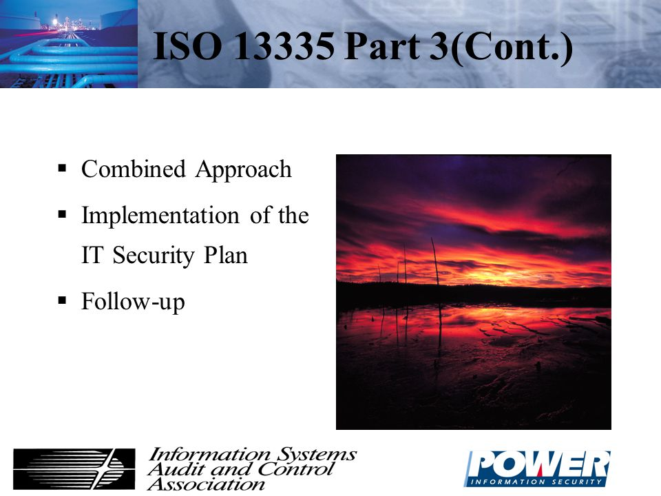 ISO 13335 Part 3(Cont.) Combined Approach