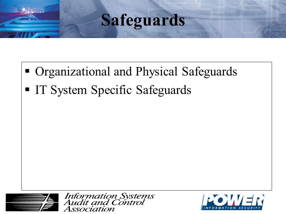 Safeguards Organizational and Physical Safeguards