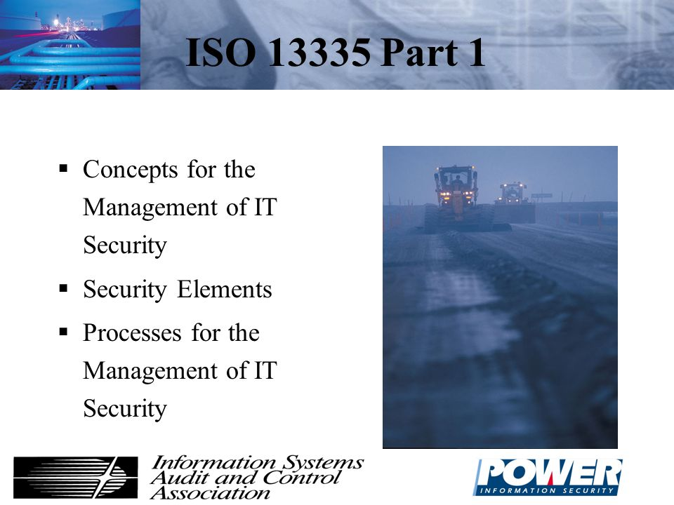 ISO 13335 Part 1 Concepts for the Management of IT Security