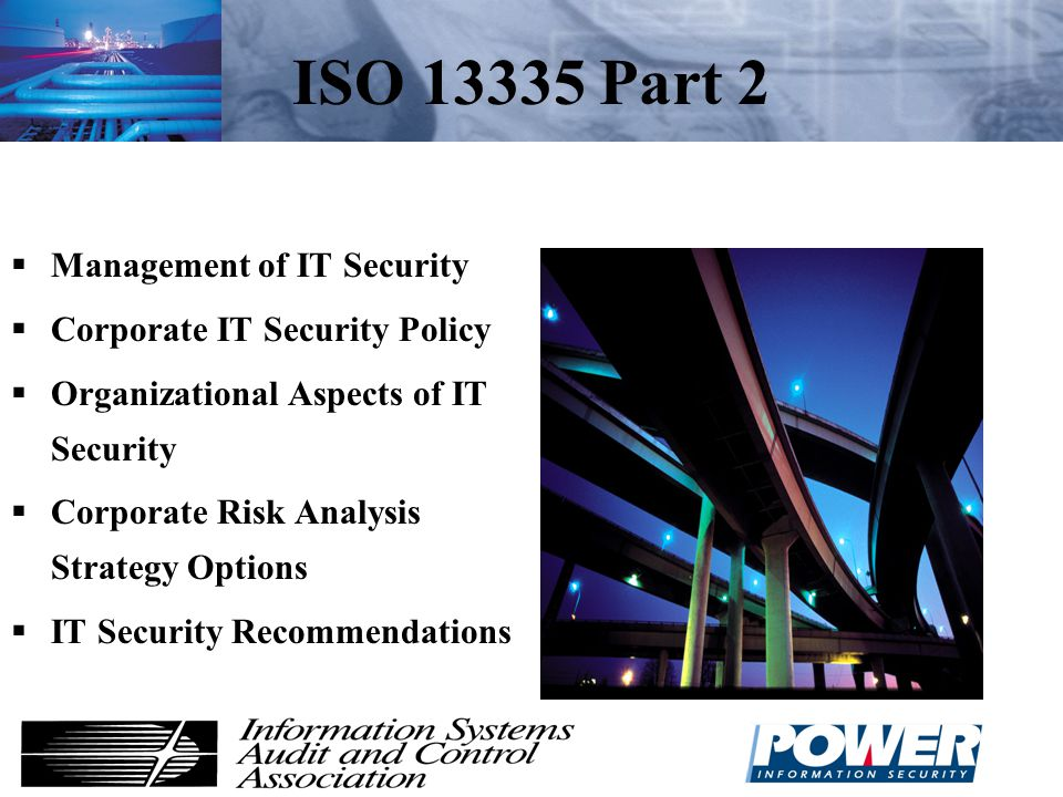 ISO 13335 Part 2 Management of IT Security