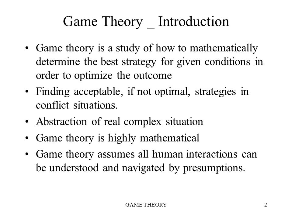 Game Theory _ Introduction