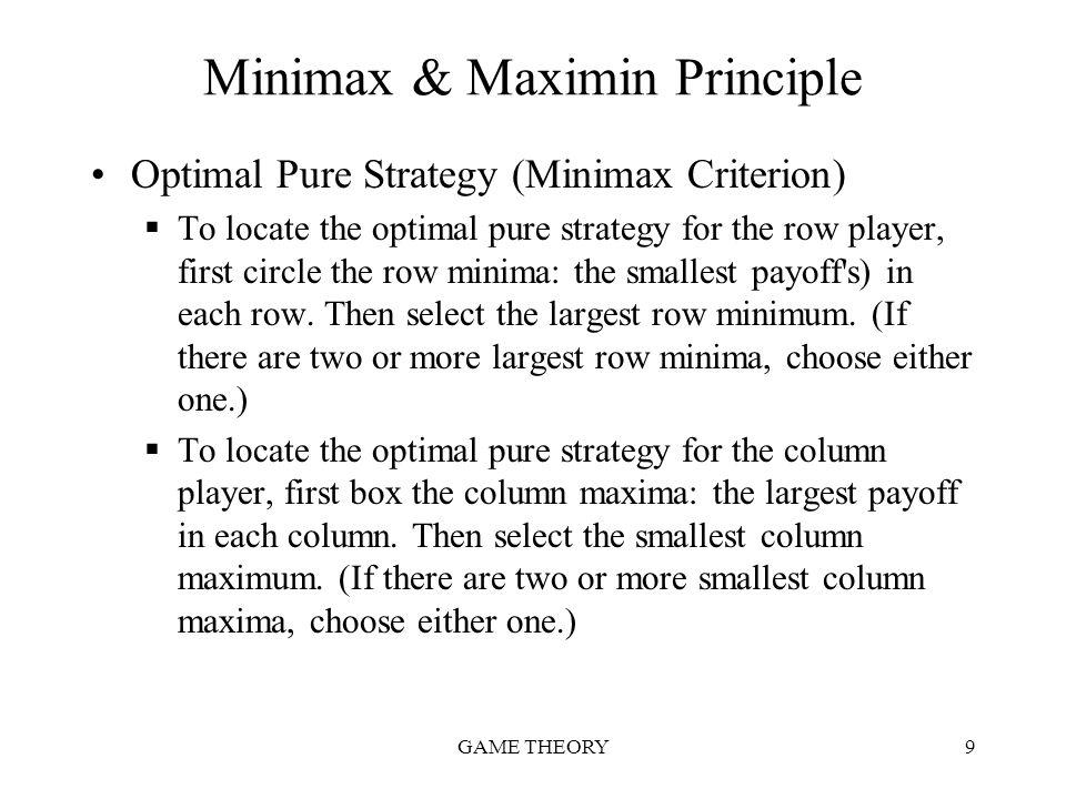 Minimax & Maximin Principle