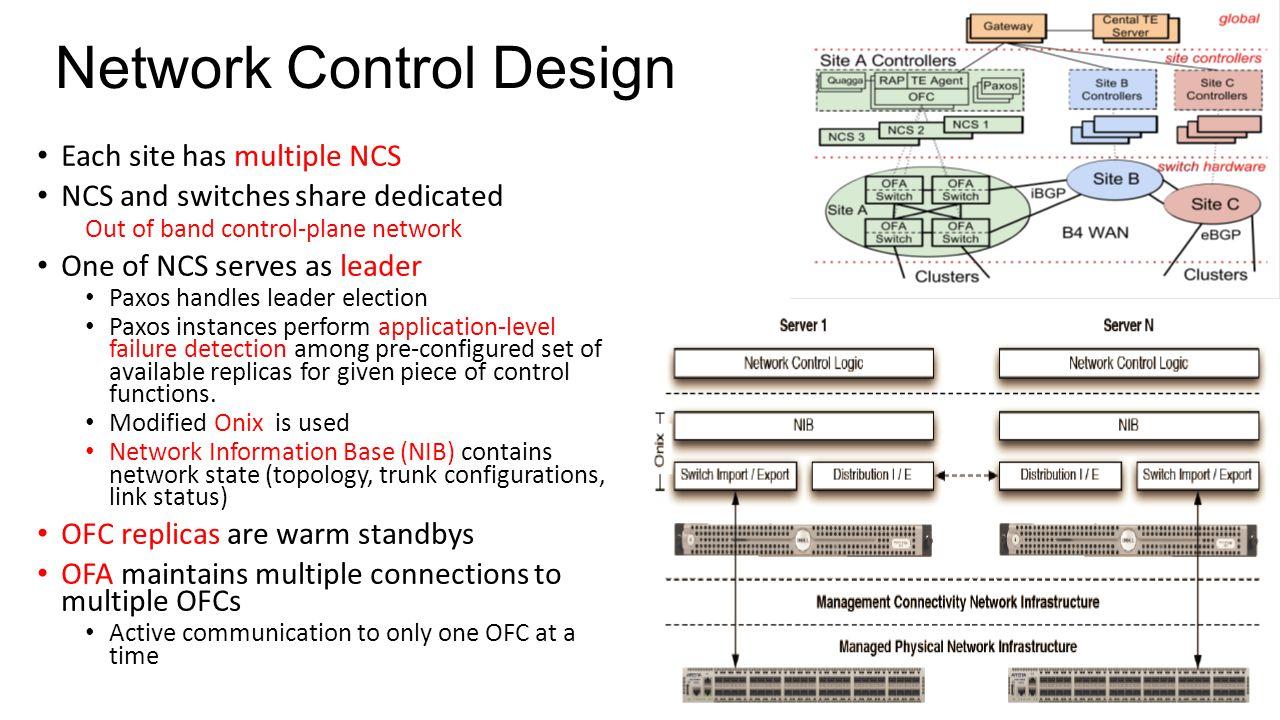Network Control Design