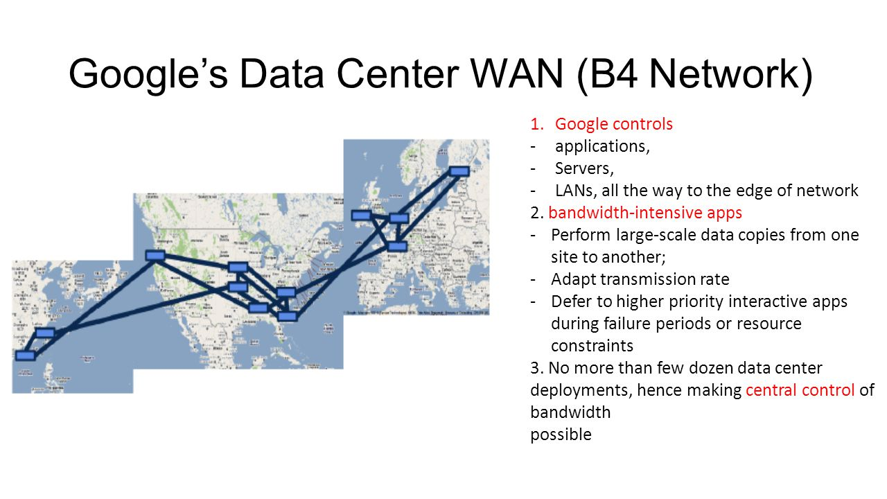 Google's Data Center WAN (B4 Network)