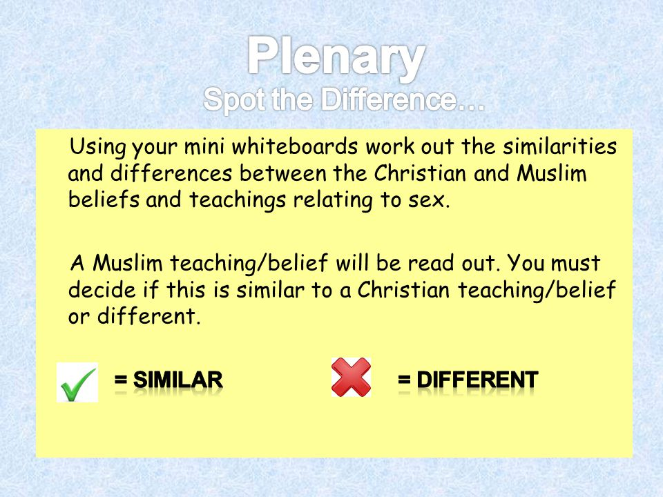 Plenary Spot the Difference…