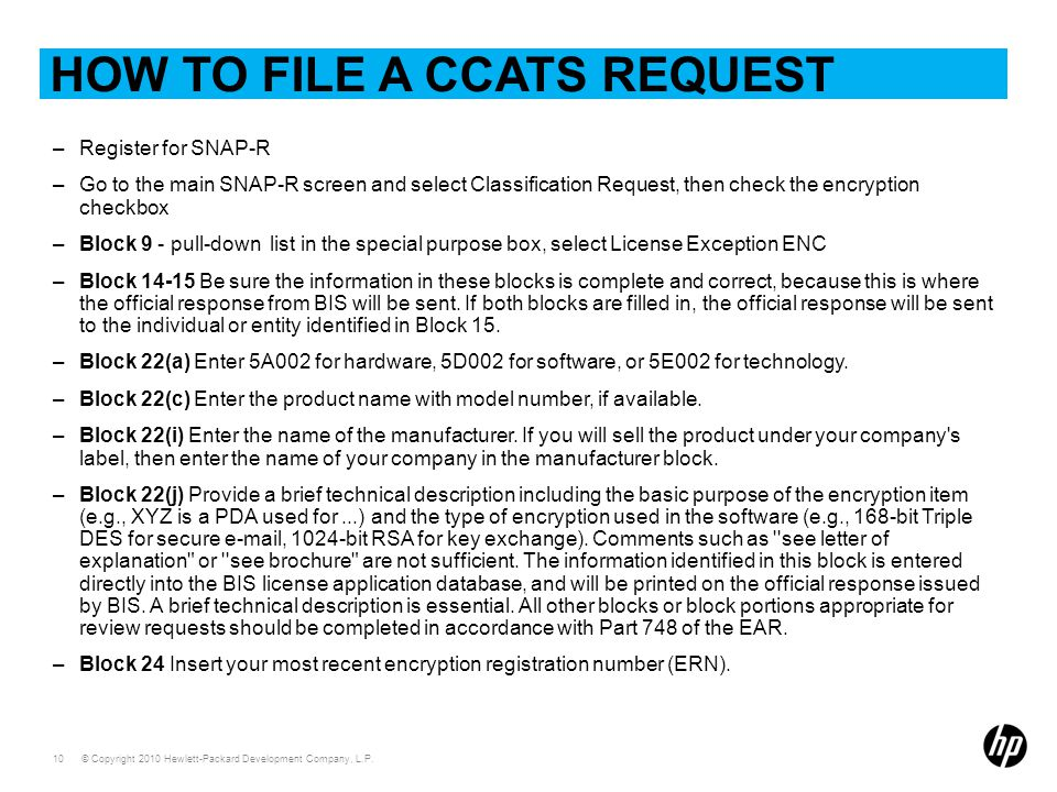 How to file a ccats request