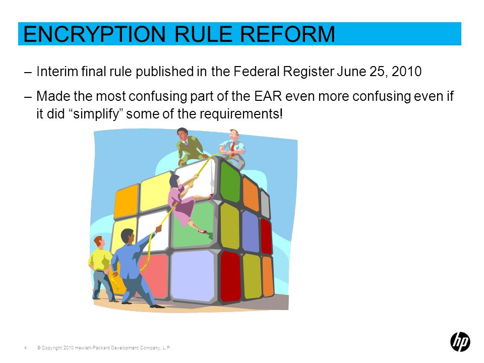 Encryption Rule Reform