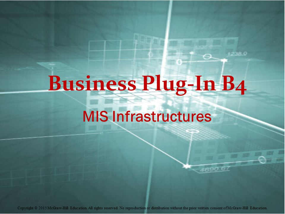 Business Plug-In B4 MIS Infrastructures