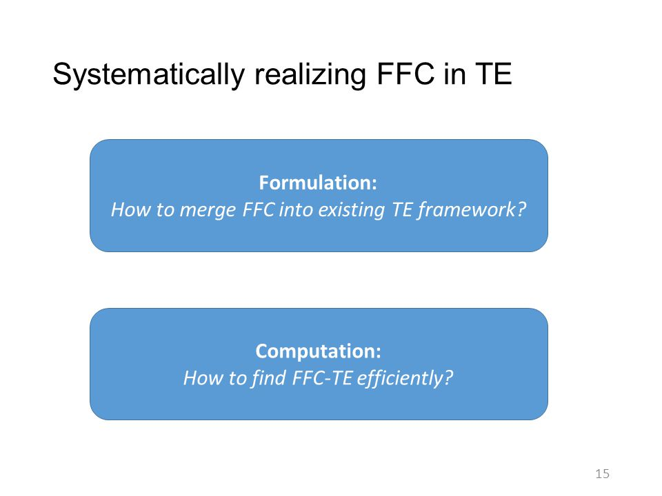 Systematically realizing FFC in TE