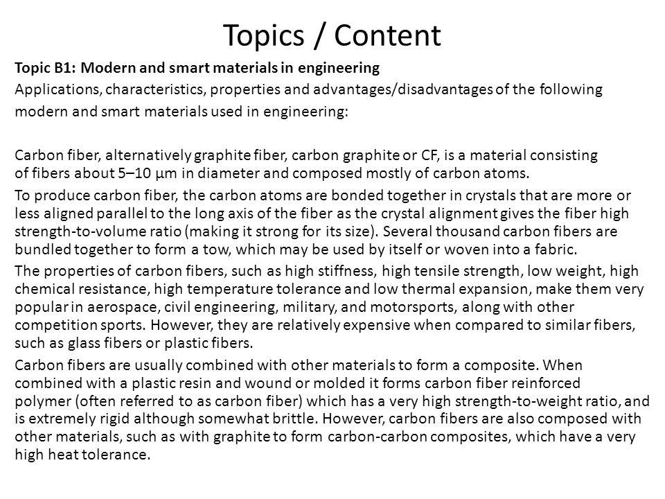 Topics / Content