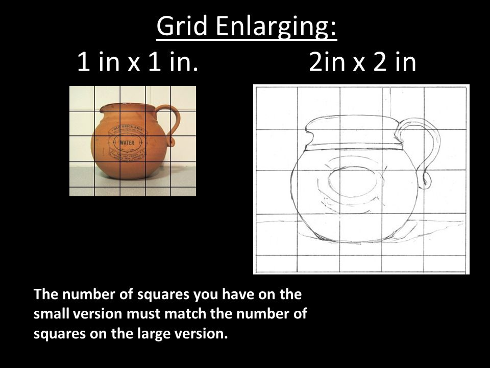 Grid Enlarging: 1 in x 1 in. 2in x 2 in