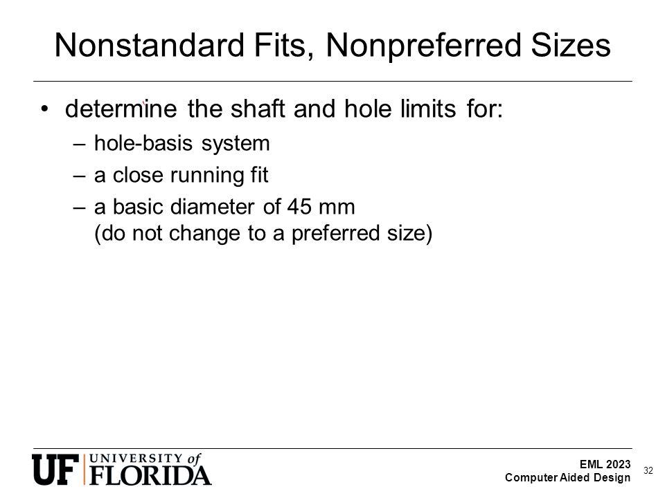 Nonstandard Fits, Nonpreferred Sizes