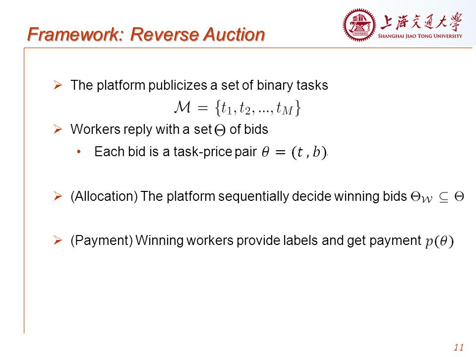 Framework: Reverse Auction
