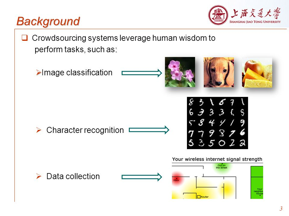 Background Crowdsourcing systems leverage human wisdom to
