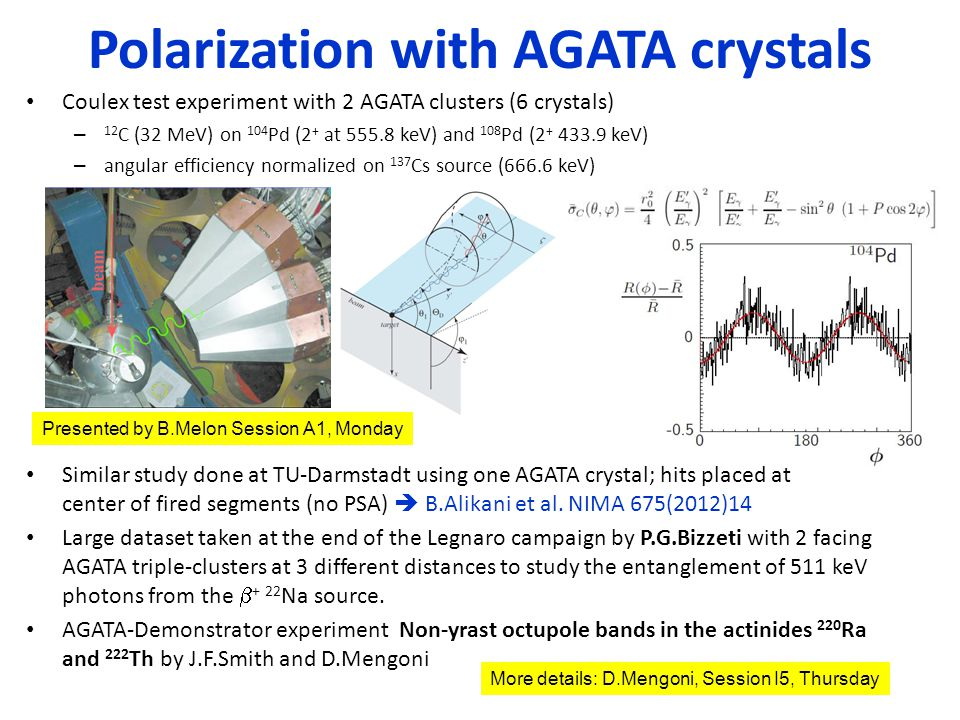 Polarization with AGATA crystals