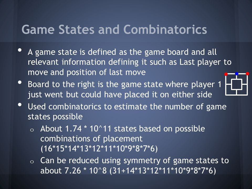 Game States and Combinatorics