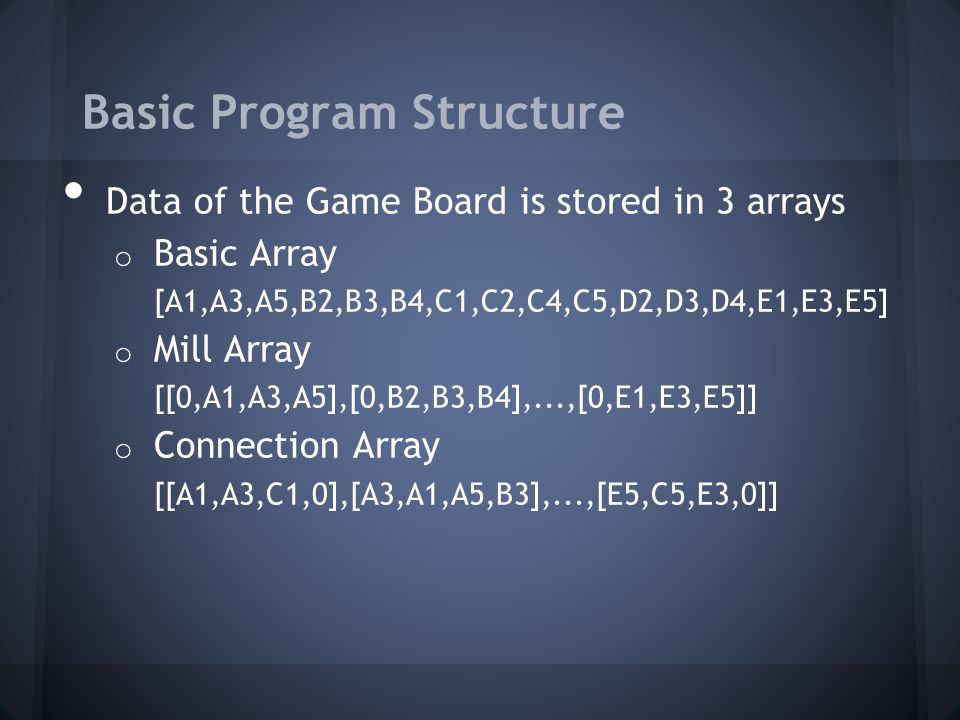 Basic Program Structure