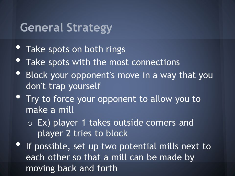 General Strategy Take spots on both rings
