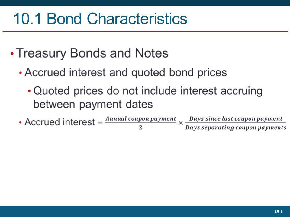 10.1 Bond Characteristics