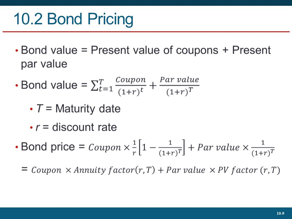 10.2 Bond Pricing