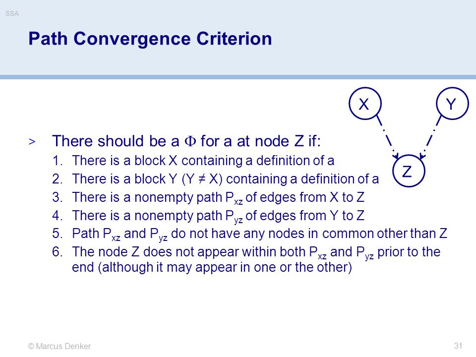 Path Convergence Criterion
