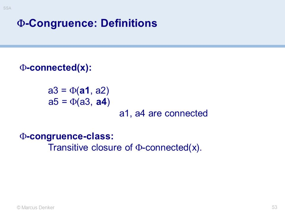 -Congruence: Definitions