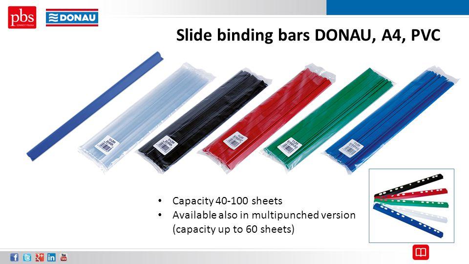 Slide binding bars DONAU, A4, PVC
